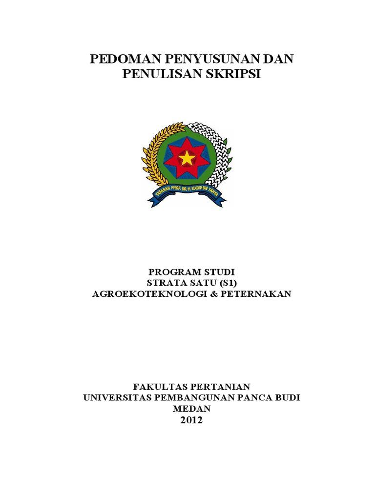 Pedoman Penulisan Skripsi Fakultas Pertanian