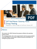 2401 SAP NetWeaver Gateway Focus Group Meeting