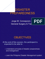 Disaster Preparedness Dr Jorge Concepcion