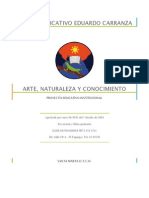 Arte Naturaleza y Conocimiento Pei Centro Educativo Eduardo Carranza
