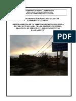 Estudio Hidrológico Sector Santa Clara (Levant_Obs)