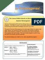 Summer Extravaganza 2014 Revised 05-27-14
