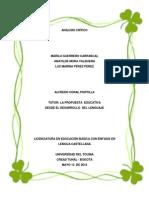 Análisis Crítico y Pedagógico. Final