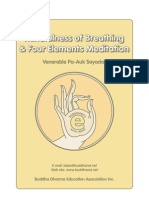 Mindfulness of Breathing & Four Elements Meditation