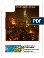 Malaysian export import hand book
