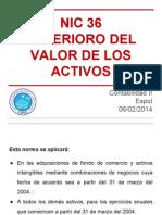 Nic 36 Deterioro Del Valor de Los Activos Exposición PDF