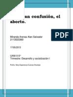 Ensayo. Aborto
