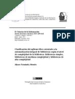 Clasificacion Del Software Libre Orientado a La Automatizacion Integral de Bibliotecas Segun El Nivel de Complejidad de La Biblioteca Bi-libre
