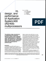 Architecture, design and performance of AS/400 multiprocessors