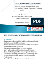 Sas Base and Advanced OnlineTtraining Institutes in Bangalore