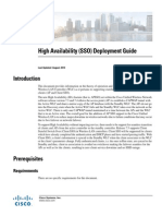 WLC High Availability (SSO) Deployment Guide