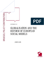 Globalisation and the Reform of European Social Models (English)