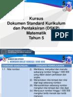 4. Taklimat DSKP Matematik Tahun 5 (Pengetahuan)