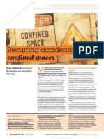 Safety - Lessons Relearned - Confined Space