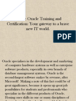 Oracle Online Training Course