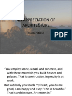 An Appreciation of Architecture