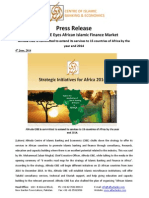 Press Release on AlHuda CIBE Eyes African Islamic Finance Market (English)