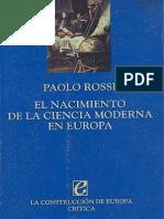 126691408 Paolo Rossi El Nacimiento de La Ciencia Moderna en Europa