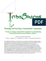 Planning and Starting a Sustainable Community