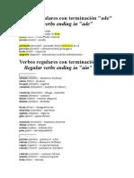 Verbos Regulares Con Terminación bac1dd0a3cb1