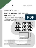 Service Manual for Toshiba TV/DVD Combo 26LV610U