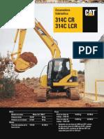 Catalogo Excavadoras Hidraulicas 314c Lcr Caterpillar