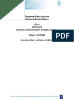 Unidad 3. Implementacion de Bases de Datos