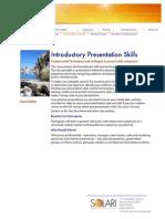 Presentation Skills Outline