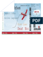 Lego Airport Boarding Pass