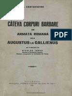 Cateva corpuri barbare din armata romana