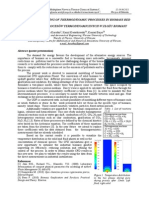 NUMERICAL MODELING OF THERMODYNAMIC PROCESSES IN BIOMASS BED
