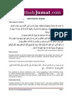 Mukadimah Khotbah-edited 21juli2011