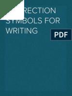 Correction Symbols for Writing