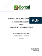Boreal Agrominerals Inc. 43-101 Technical Report on the Spanish River Carbonatite