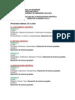 Programación Semanal de Las Clases 2014-1