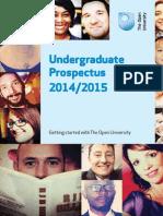 Open University Undergraduate Prospectus 2014-2015
