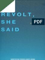 Julia Kristeva Revolt She Said