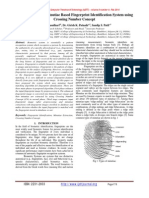 Implementation of Minutiae Based Fingerprint Identification System using