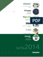 201401 Toscano Tarifa Enero 2014
