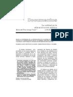 La Calidad en La Administración Pública Colombiana
