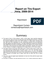 Research Report on Tire Export in China, 2009-2014