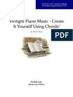 Twilight Piano Music - Create it Yourself Using Chords!