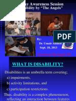 2. Presentation on Disability (Dr. Umair Ahmed)