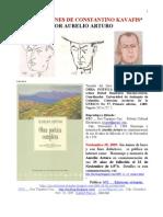 AURELIO ARTURO. TRADUCCIONES DE CONSTANTINO KAVAFIS