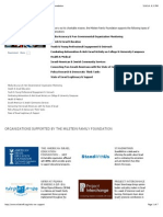 Organizations Supported by the Milstein Family Foundation