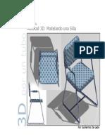 Autocad 3D Modelando Una Silla 3D-Por Guillermo de Leon S.