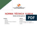 NT 11_2014 - Saídas de Emergência