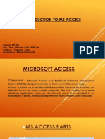 Intro to Ms Access Basic