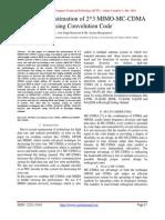 Performance Estimation of 2*3 MIMO-MC-CDMA using Convolution Code