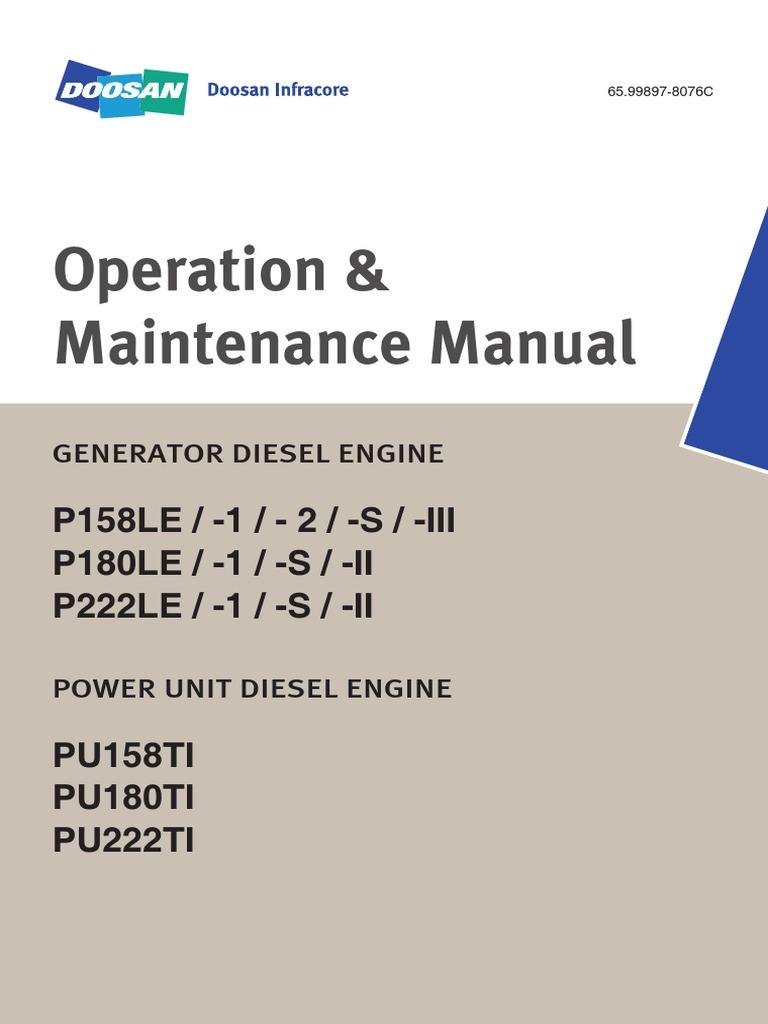 operation and maintenance manual p158le p180le p222le daewoo rh es scribd com Lac 55 V Portable Monitor Sony CLM-V55